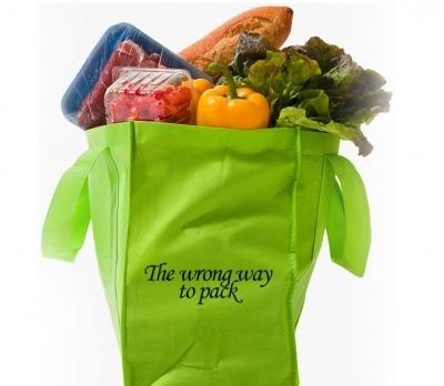 bagging groceries