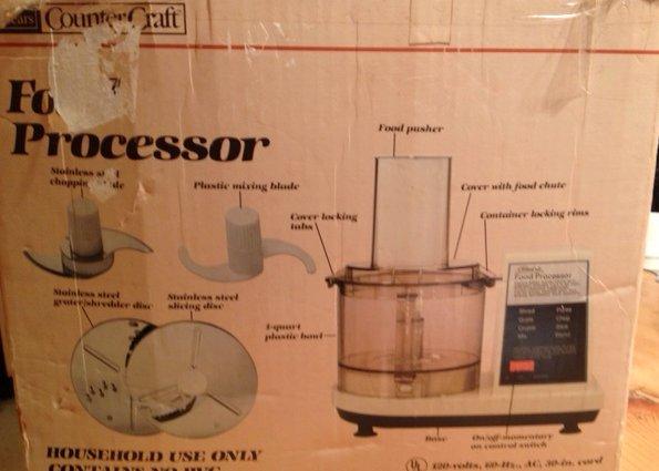 Sears Counter Craft Food Processor Manual